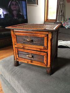 Wicker 2 drawer box