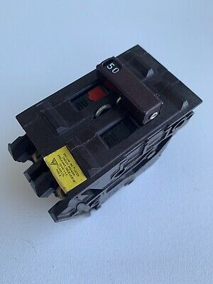 Wadsworth 50 Amp Double Pole 2 Pole 2p 50a Circuit Breaker Plastic Feet Tested