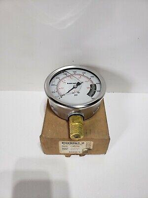 Enerpac G4039l Pressure Gauge 0 To 10000 Psi 4in 12in Npt New