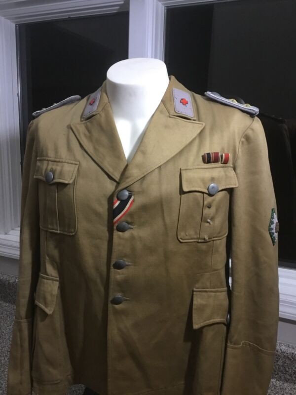 Original German WWII Red Cross Officers Tunic