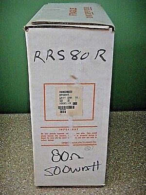 Ohmite Rrs80r Rheostat - Model R Vitreous Enamel Wirewound 500 Watt 80 Ohm Nos