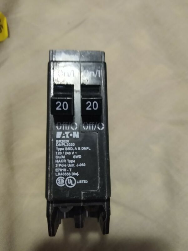 Eaton BR2020 20 Amp Single Pole Tandem Circuit Breaker 20A 1P New No Box