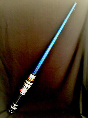 Star Wars Lightsaber and Small Handle Lightsaber Blue Electronic Hasbro 2009 Toy