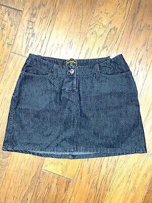 Vivienne Westwood ANGLOMANIA Black Denim Skirt Mini Size 26