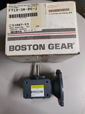 Boston Gear Altra F713-30-b5-j Right Angle Worm Gear Speed Reducer New