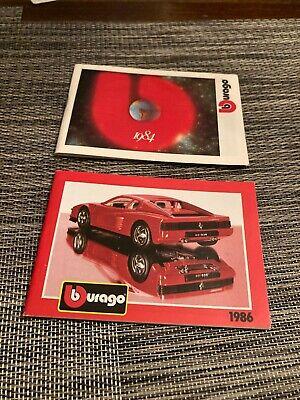 Burago Car Catalogs 1984, 1986