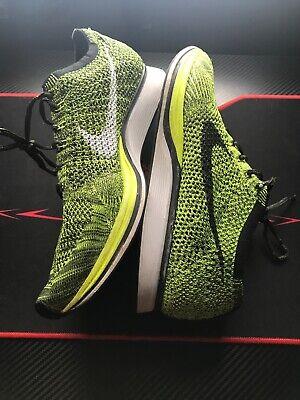 Nike Flyknit Racer Running Shoes Men's 11.5 Green