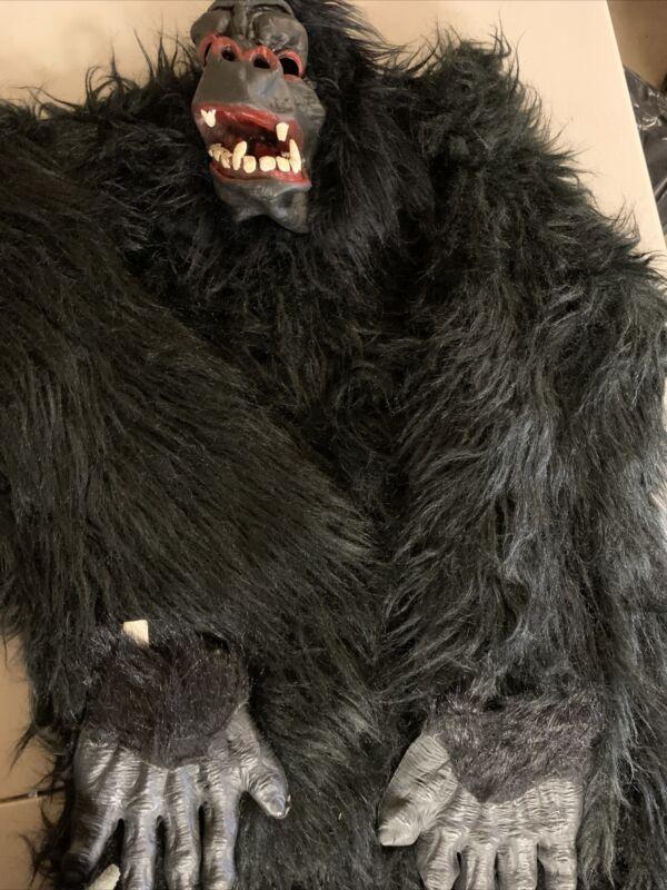 Vintage Ben Cooper King Kong Lives Complete Adult Ape/Gorilla Costume Bag128