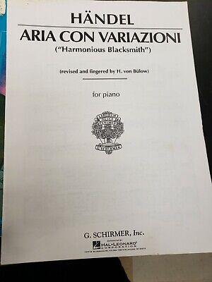 Alfred Aria Con Variazioni Harmonious Blacksmith for piano G Schirmer, -