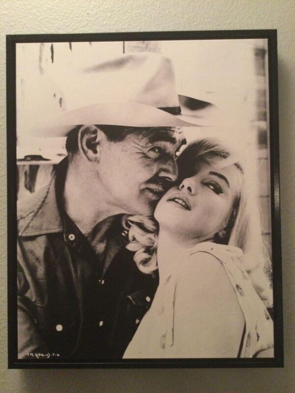 "Marilyn Monroe In The Misfits (1961). 16""x20"" Framed Canvas wall art."
