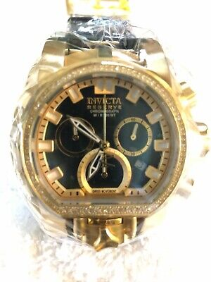 Diamonds! Invicta Reserve 52mm Bolt Zeus Magnum Swiss Chrono Diamond- MSRP: $899