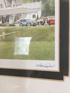 "Walter Campbell print in frame entitled ""Fairways"" Kawartha Lakes Peterborough Area image 2"