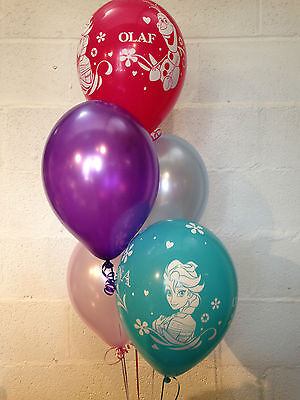 Character Balloons (30x Disney's Frozen Characters and Pearlised Latex Balloons (Helium)