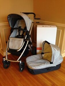 Uppababy vista stroller with almost brand new bassinet