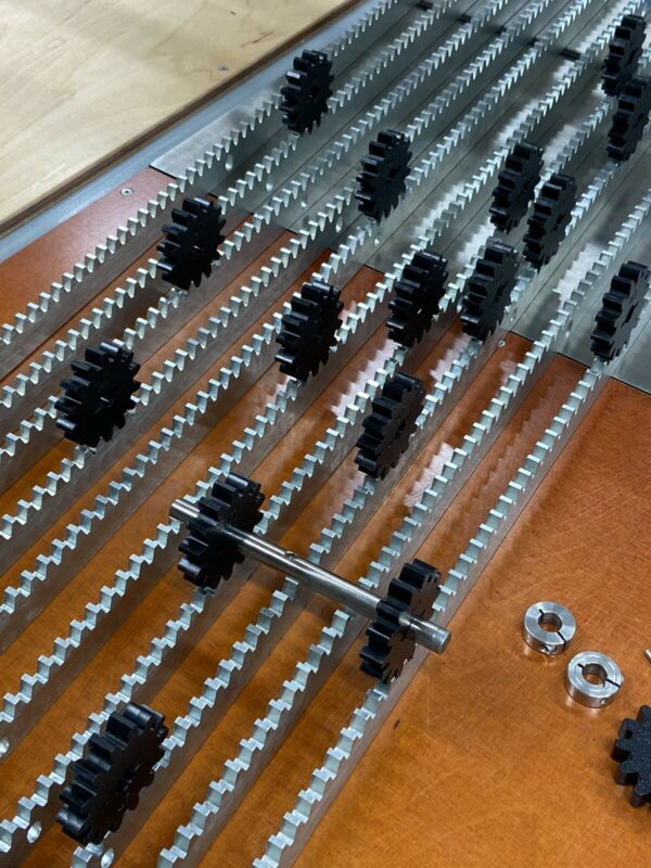 """39"""" LONG HIGH CARBON STEEL GEAR RACK FOR OUR MATCHING SPUR GEARS-LINEAR CNC ETC."""