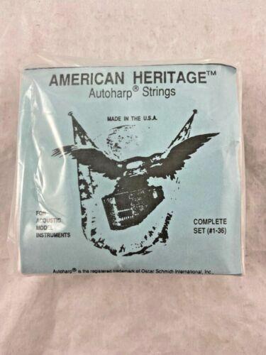 Autoharp Strings - American Heritage - B / C - Model 36 String Set - NEW