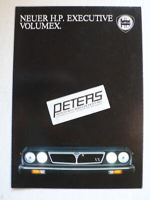 Prospekt Lancia H.P. Executive Volumex, zeigt Rallye, 9.1983, 8 Seiten, folder