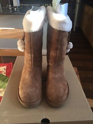 Used, NIB UGG Womens Plumdale Cuff Tall Boots Chestnut Size 6 for sale  Beaumont