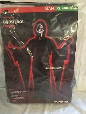 t Face Robe Killer Adult Halloween Costume XL (Ghostface Robe)