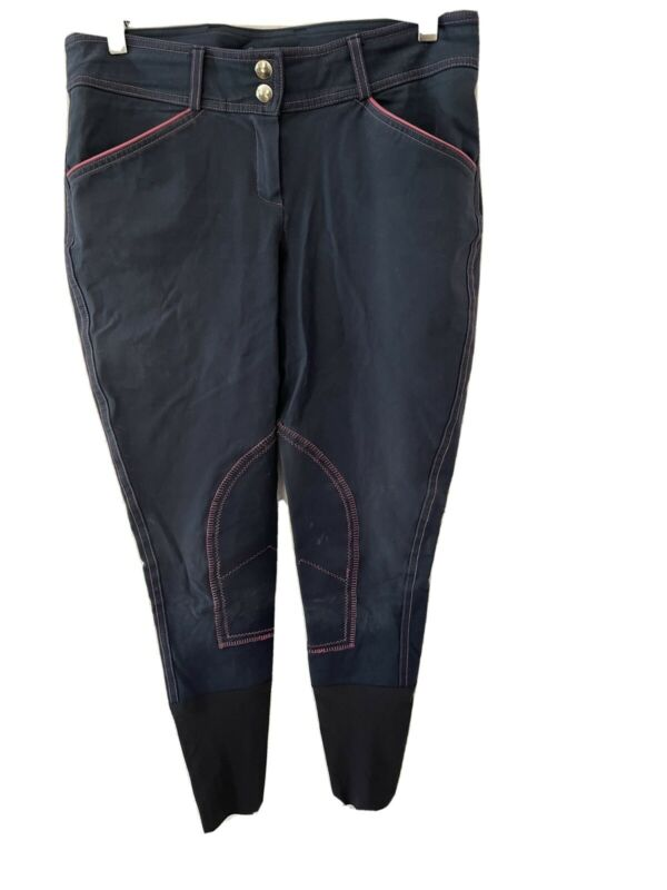 Licarzo Italian Sock Breeches, Light Summer Weight Size 38, Navy with Hot Pink