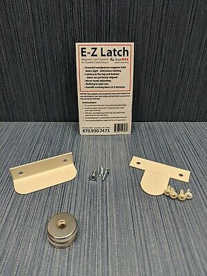 EZ-Latch Magnetic Latch System for Closet Double Doors - Choose Color
