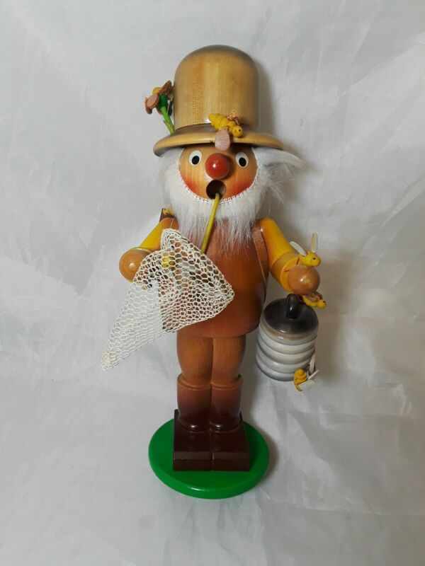 """Vintage Steinbach Smoker Beekeeper 9"""" Tall Made in Germany"""