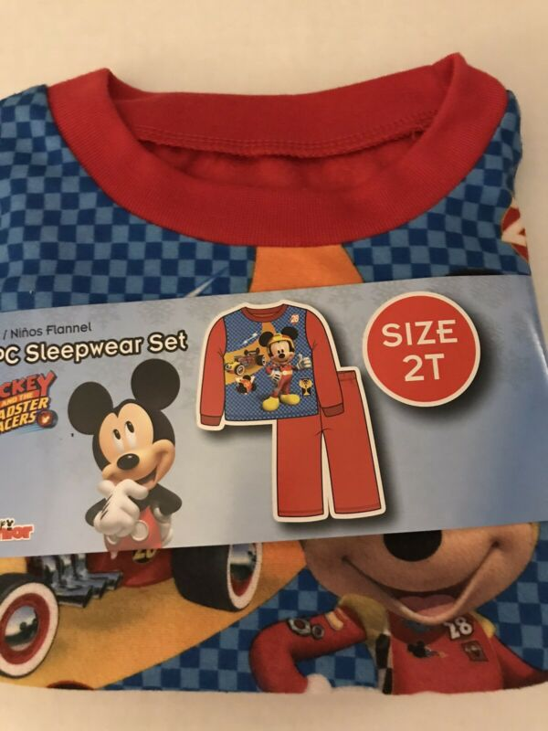 Disney Mickey and The Roadster Racers Boys 2 Piece Sleepwear Pajamas 2T