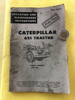 Vintage Caterpillar 621 Tractor Bulldozer Maintenance Operation Book Catalog