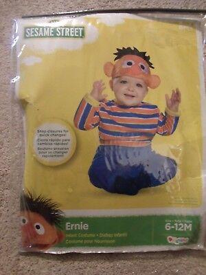 NEW SESAME STREET ERNIE HALLOWEEN COSTUME INFANT 6-12 MONTHS