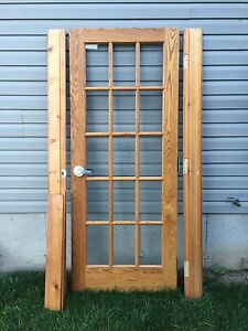 Solid oak French door