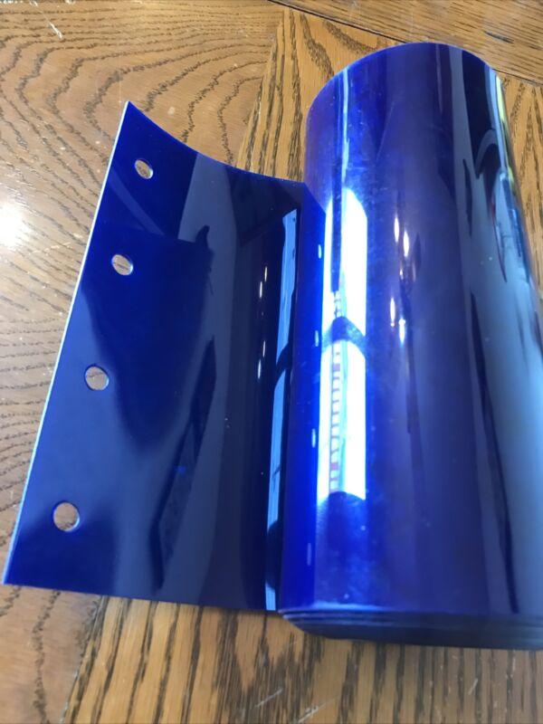 "(1) NEW - Steiner PVC BLUE 8"" x 96"" Welding Strip Curtain Replacement Panel"