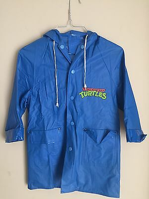 Vintage 1989 Teenage Mutant Ninja Turtles Kids Raincoat