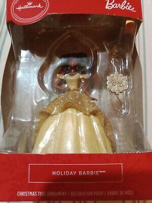 Hallmark Holiday African-American Barbie 2020 Christmas Tree Ornaments
