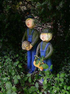 Garten-Figuren aus Beton ! UNIKATE ! 2 KINDER v Walter DAHMEN  ; sign.