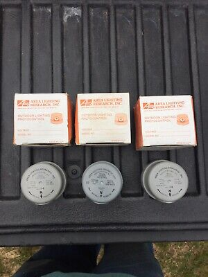 N.o.s. Lot Of 3 Area Lighting Research 2060-nps Photo Light Control 1000watt