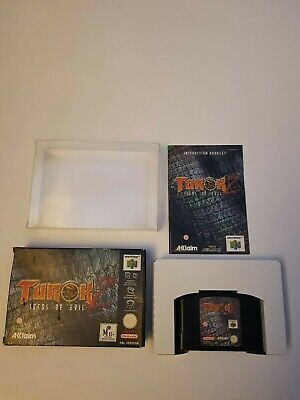 Turok 2 Seeds of Evil Nintendo N64, V.G.C., Complete, Inc. Box Protector, PAL