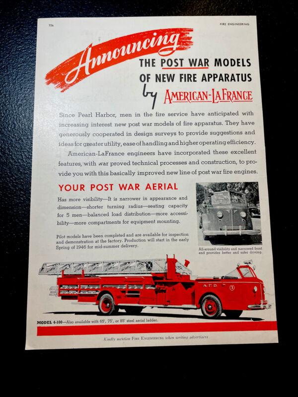 1945 American LaFrance Fire Truck Advertising - Elmira - New York - Emergency