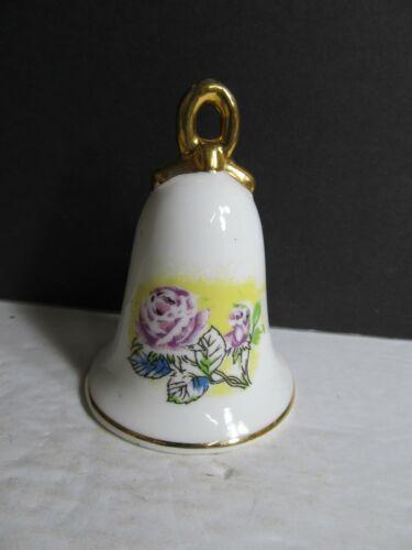 "White Porcelain Floral Bell 3""  Bell2"
