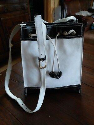 Shoulder Bag White & Black Woman Jeans Louis Scherrer Shoulder Bag White Black