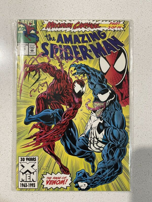 Amazing Spiderman 378 Maximum Carnage Part 3 - 1st Edition!!!