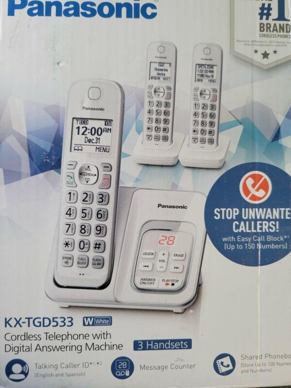 Panasonic KX-TGD533W MISSING ONE HANSET