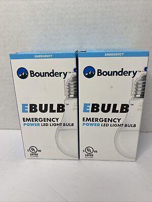 New x2 Boundery EBULB Emergency Powered LED Light Bulb 9W 800 Lumen Free Ship!