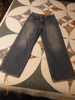 Abercrombie 1892 Womens Distressed Blue Jeans Size 14 Baggy Short Wide Flare Leg, used for sale  Duffield