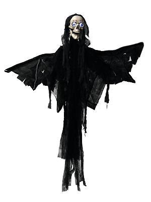 Halloween Figur Engel Motor+Sound+LED Schocker Grusel - Halloween Grusel Sound