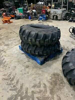 16.9x24 Loader Backhoe Tires Denman Made In Usa New One Pair
