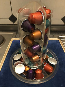 Nespresso Original Kapselhalter TOTEM Voll-Plexi drehbar Kapselspender Dispenser