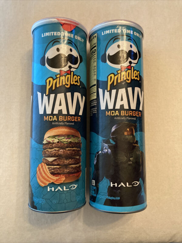 Pringles Xbox Halo Limited Edition MOA Burger Pack Of 2