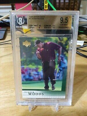 2001 Upper Deck Tiger Woods BGS 9.5 Gem Mint PSA 10? Rookie Card! Great subs!