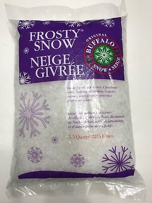 Buffalo Snow Flakes 3.5 Qt Bag Christmas Village Craft Artificial Fake