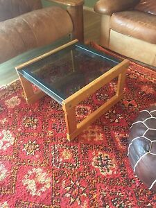 Glass and timber side table/coffee table Singleton Singleton Area Preview